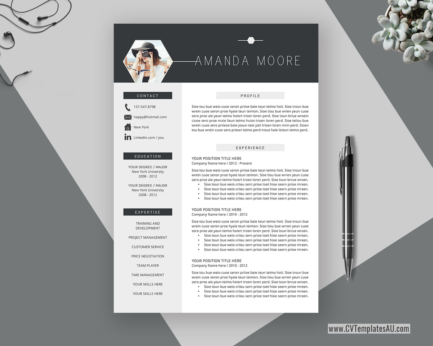 Professional Cv Template For Microsoft Word Cover Letter Curriculum Vitae Modern And Creative Resume Design Teacher Resume 1 Page 2 Page 3 Page Instant Download Cvtemplatesau Com,Kitchen Pantry Designs For Small Spaces