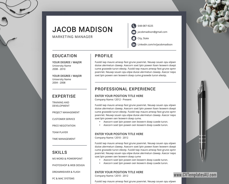 Teaching Resume Template Microsoft Word from www.cvtemplatesau.com