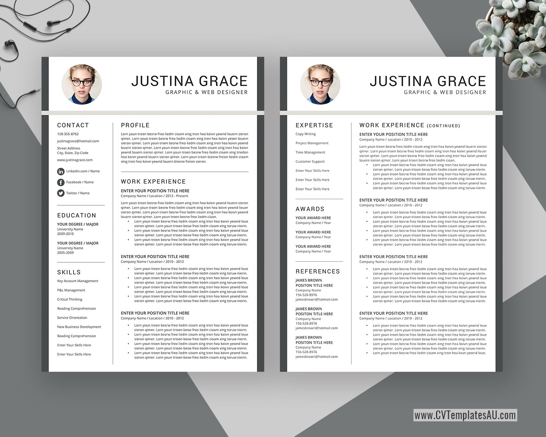 Cvtemplatesau Com Page 2 Professional Cv Templates For Australian And International Job Seekers