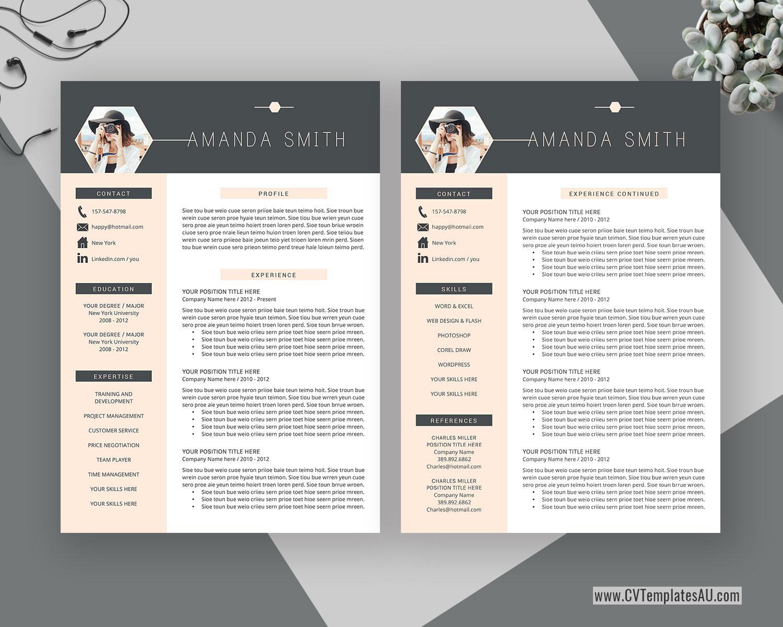 modern cv template for microsoft word  cover letter