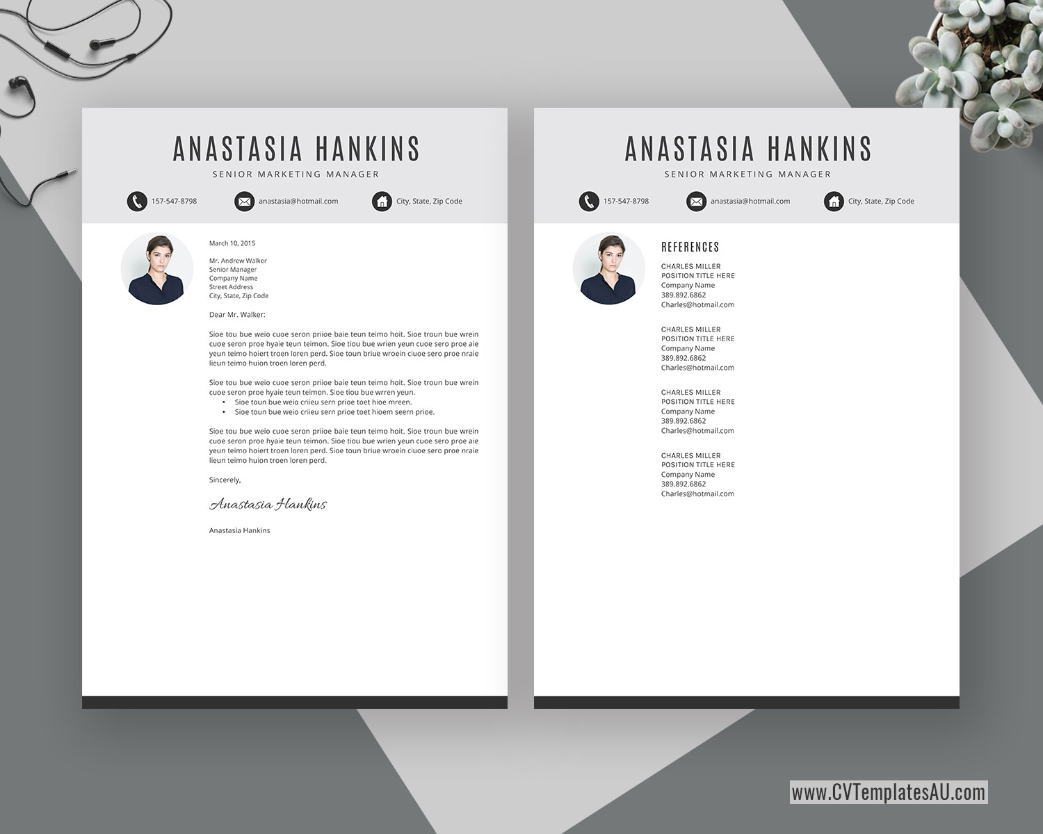 Simple Cv Template For Microsoft Word Cover Letter Clean Cv