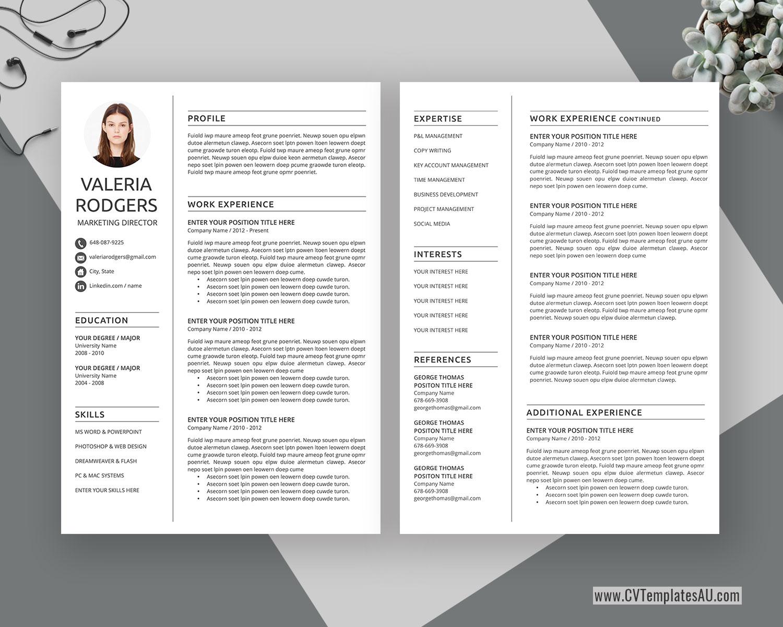 Australian Resume Templates Cvtemplatesau Com