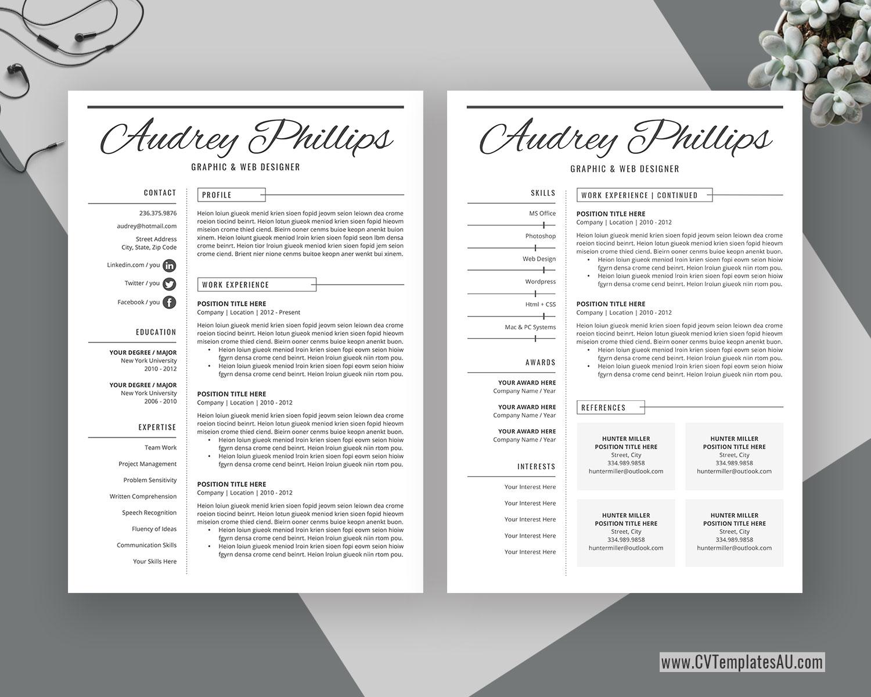 Cvtemplatesau Com Page 2 Professional Cv Templates For