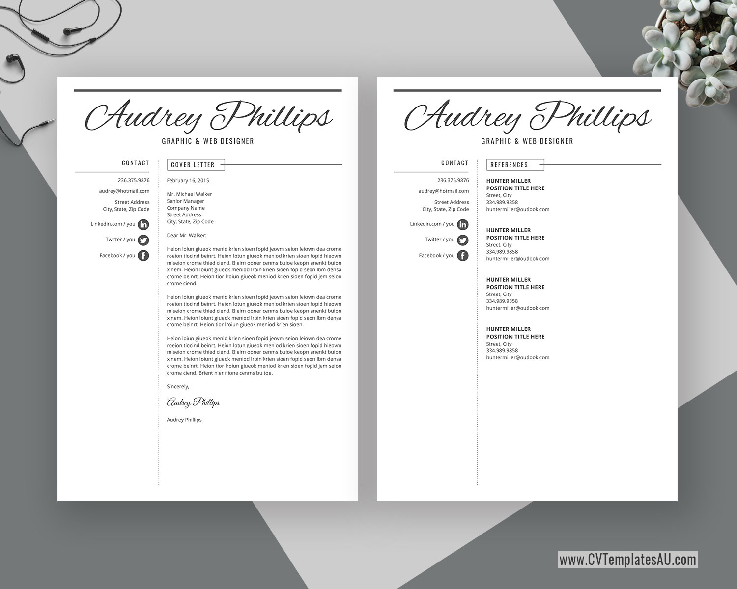 Simple Cv Template For Microsoft Word Cover Letter Curriculum