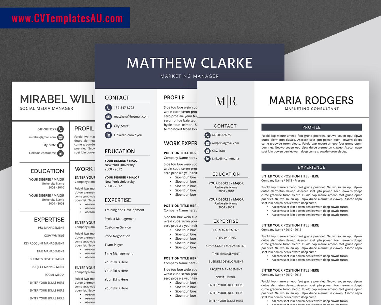Simple Cv Templates Bundle Professional And Modern Resume