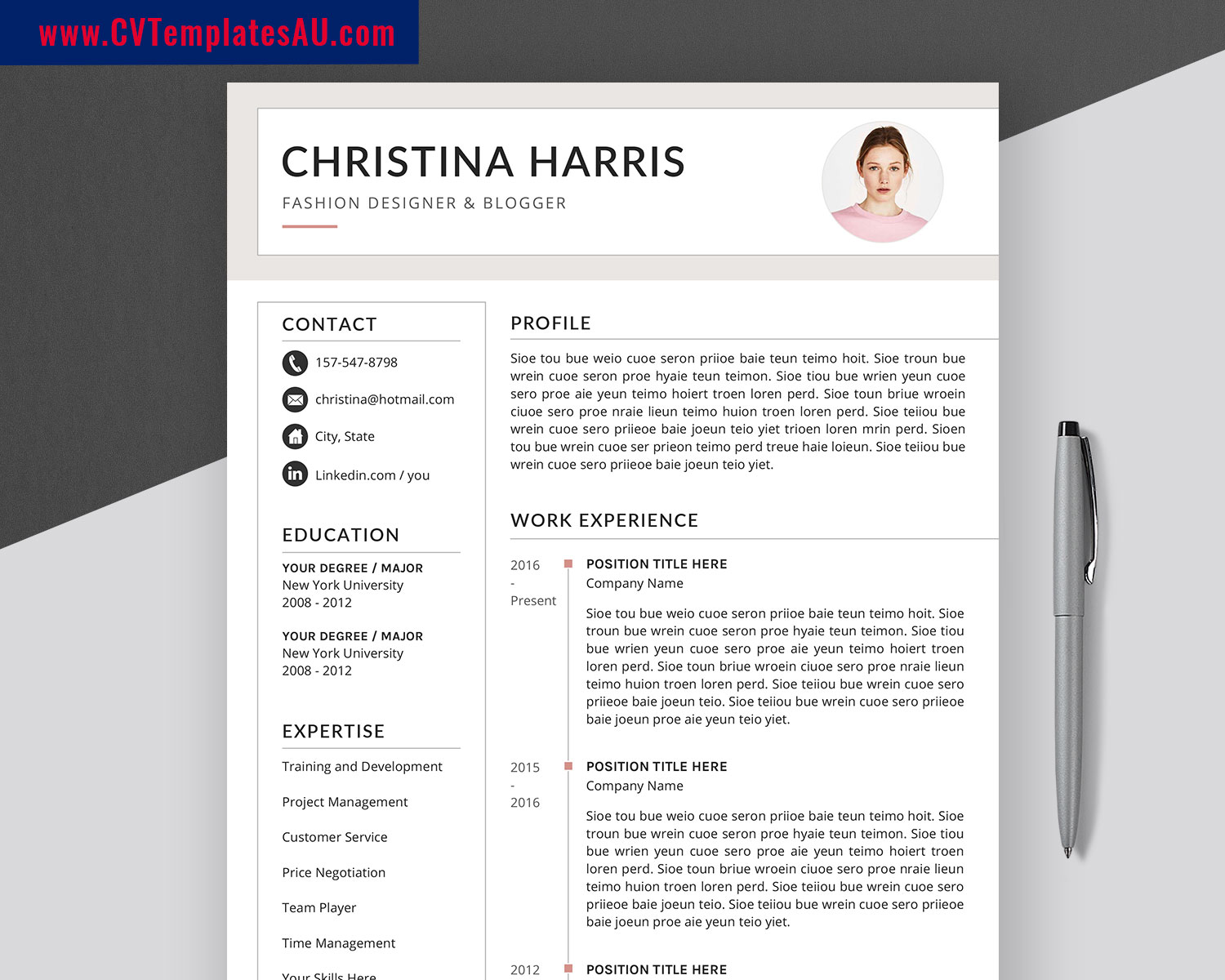 Creative Cv Templates Bundle Modern Resume Templates Design